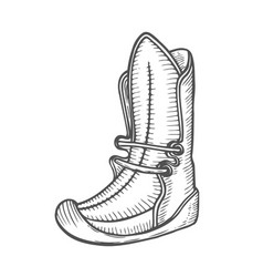 old and dirty boots vector image