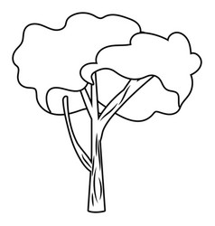 outdoor nature tree cartoon vector image