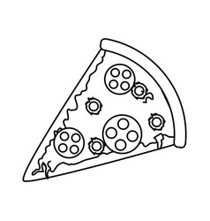 pizza fast food icon image vector image