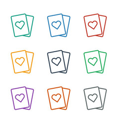 Playing card icon white background vector