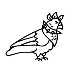 Punk rock pigeon with mohawk vector
