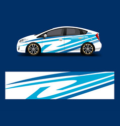 Racing car wrap with simple abstract stripe vector