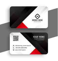 Red and black business card template design vector
