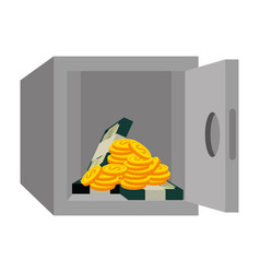 safe box with money vector image vector image