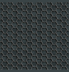 seamless web hexagon pattern gray tile surface vector image