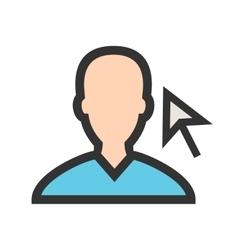 Select Male Profile vector