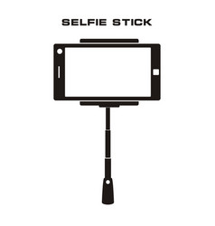 Selfie stick icon isolated badge vector