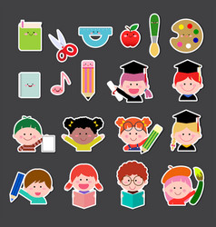 Set of kids and education icon vector