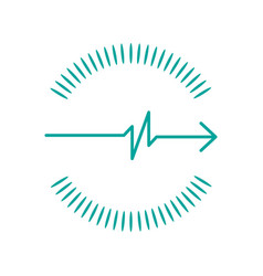 simple pulse with arrow circle made out of shapes vector image