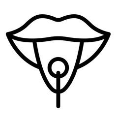 Speech therapist icon outline style vector