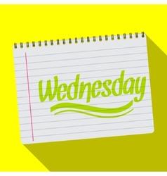 Spiral calendar wednesday notebook notepad long vector