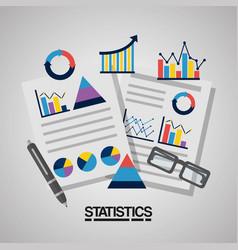 statistics data business image vector image
