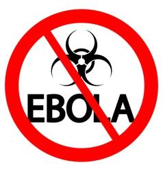 Stop Ebola sign vector image