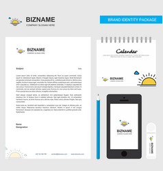 sunset business letterhead calendar 2019 and vector image
