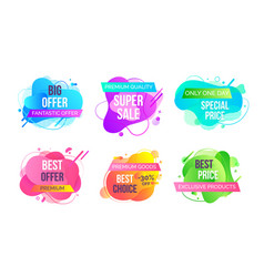 super sales and discounts shops banners set vector image