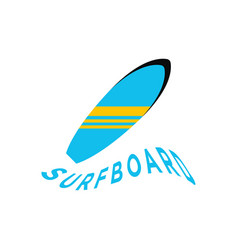 surfboard graphic design template vector image