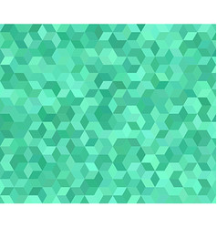 Teal 3d cube mosaic pattern background vector image