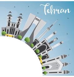 Tehran Skyline with Gray Landmarks vector