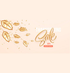thanksgiving or fall discount sale banner vector image