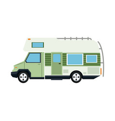 Truck camping transport travel tourism vector