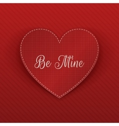 Valentines Day realistic red Heart greeting Card vector image