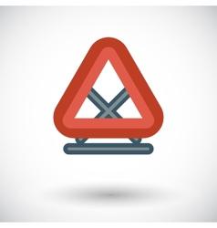 Warning triangle single icon vector