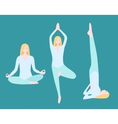 Yoga Flat Set vector image