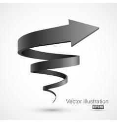 Black spiral arrow vector image vector image