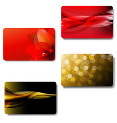 gift card big set vector image