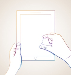 Hand Pinch Tablet vector image vector image
