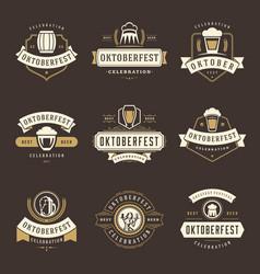 oktoberfest celebration beer festival labels vector image vector image