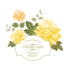 Spring flowers bouquet for vintage card vector image vector image