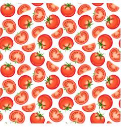 tomato seamless pattern vector image