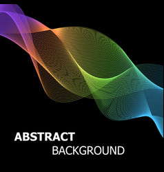 colourful abstract line wave background vector image vector image
