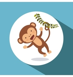 cute monkey design vector image vector image