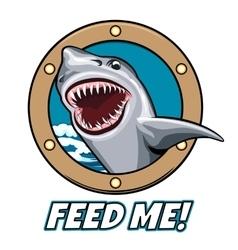 Feed Me Emblem vector image