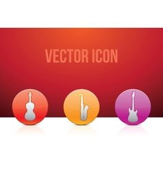 icon set music color vector image