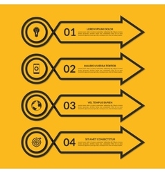 Infographic arrow design template with 4 options vector
