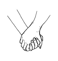 painted hands holding hands that are vector image vector image