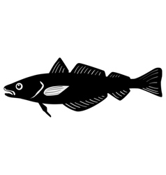 Silhouette of whiting fish vector image vector image