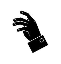 taking hand icon black sign vector image
