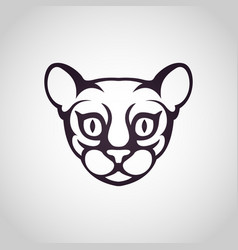 cat logo icon vector image vector image