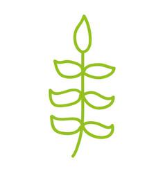 line icon bush cartoon vector image