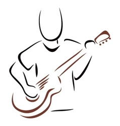 Musician with guitar vector image