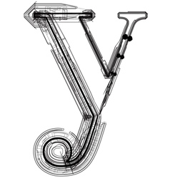 Technical typography Letter y vector image