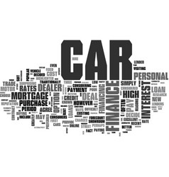 what car finance deal should you choose text word vector image vector image