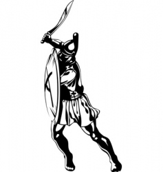 ancient greek hero vector image vector image