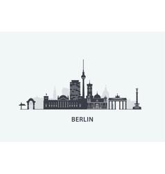 Berlin skyline silhouette vector image vector image