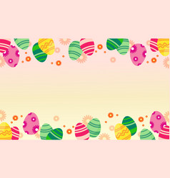 easter egg greeting card style vector image vector image