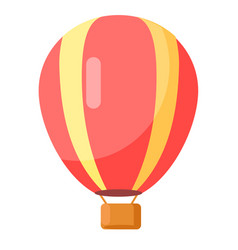 red-yellow airballoon icon isolated on white vector image